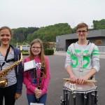 Unsere drei neuen Jungmusiker (v.links n. rechts- Olivia Steinbach, Lea Wirleitner, Raphael Stubauer)